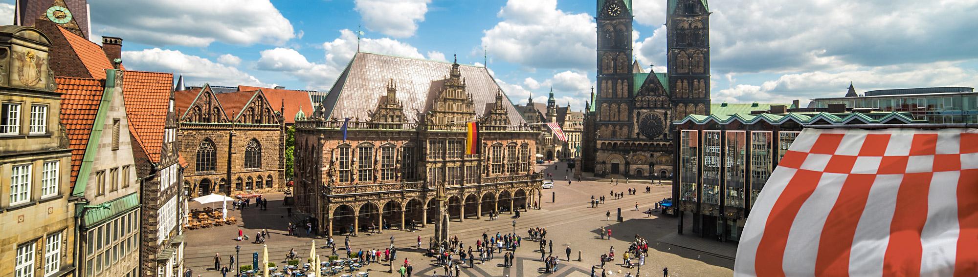 Bremer Marktplatz, Foto: Jonas Ginter / BTZ Bremer Touristik-Zentrale